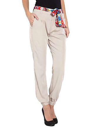 a3d40e8ca7a70 Morgan Pantalon - Relaxed - Femme - Beige - FR : 36 (Taille fabricant :