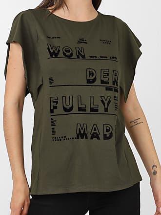 Dimy Camiseta dimy Lettering Flocado Verde