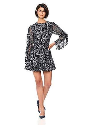 0d8f7922c3bc Keepsake the Label Womens Engage Navy Lace Long Sleeve Ruffle Mini Dress