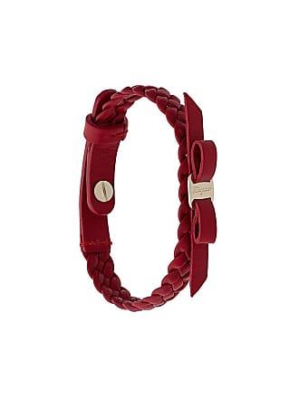 Salvatore Ferragamo Bracelete de couro Vara Bow - Vermelho