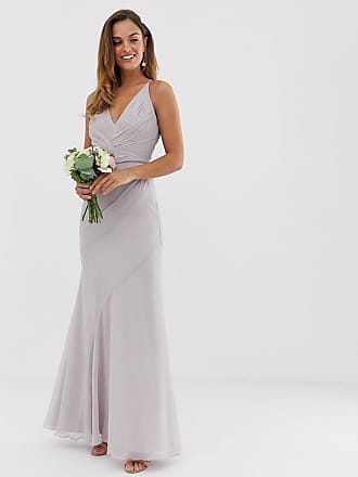 Asos Bridesmaid maxi dress with pleated cami bodice and fishtail skirt - Pink