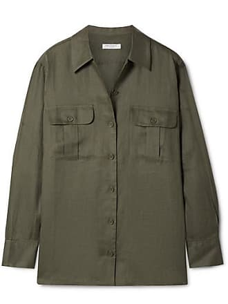 Equipment Videlle Linen Shirt - Army green