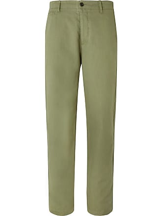 Ymc You Must Create Duke Cotton And Linen-blend Trousers - Green