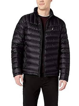 Nautica Mens Down Packable Puffer Jacket, Black, XXL