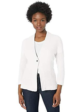 Nic+Zoe Womens Petite ONE for All Jacket, Paper White, PM