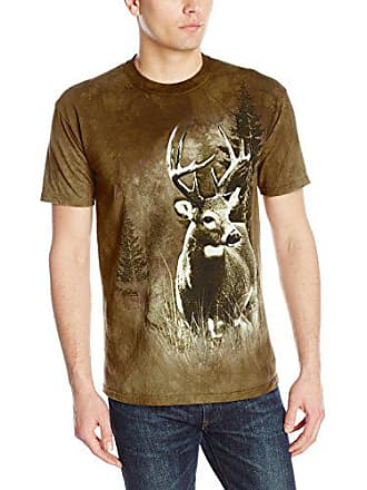 The Mountain Mens Lone Buck T-Shirt, Olive, Medium