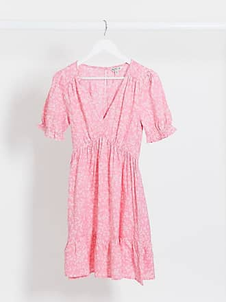 Miss Selfridge mini tea dress in pink floral