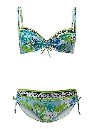 52aebc2acb7fe Madeleine Féraud. Bikini mit Raffung Damen weiss/multicolor / blau