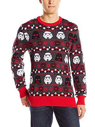Star Wars Mens Holiday Sweater, Grey, Medium