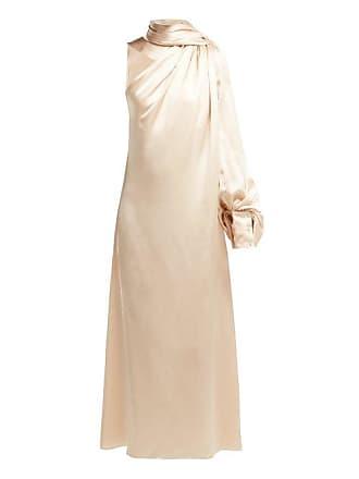 9649f886a2b70 Hillier Bartley Draped Silk Satin One Shoulder Dress - Womens - Ivory