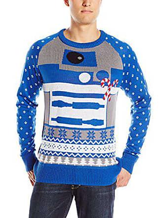 Star Wars Mens R2d2 Sweater, Blue, Small
