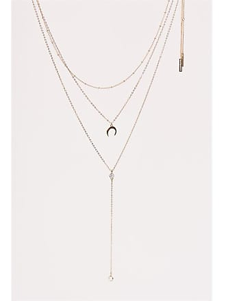 Dynamite Layered Lariat Necklace Set Gold