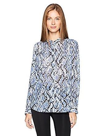 Jones New York Womens Shirred Shirt W/Pyramid Stud Detail, Dusk Combo XS