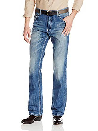 Wrangler Mens Xtreme 20X Cowboy Vintage Boot Cut Jean, Light Blue, 36x32