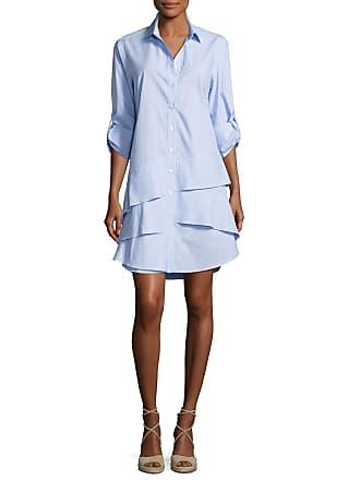 5fe98a2a834a06 Finley Jenna Long-Sleeve Ruffle-Tiered Striped Shirtdress, Petite