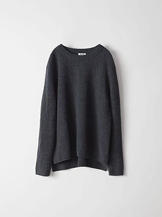 Acne Studios Nicholas Charcoal Melange Ribbed sweater