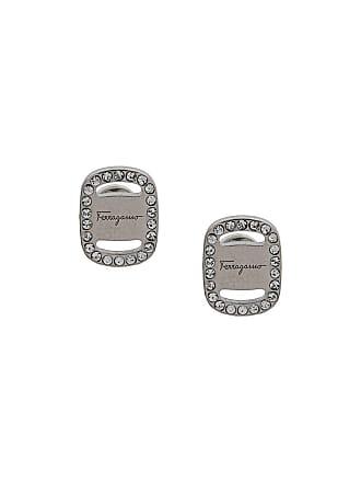 Salvatore Ferragamo embellished logo earrings - Silver