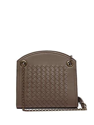 e2428531b1c6 Bottega Veneta Intrecciato Leather Cross Body Bag - Womens - Grey