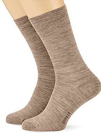 eed90e2f160ec Esprit Basic Socks 2P Chaussettes Homme Marron (Nutmeg Mel 5410) 43/46 (