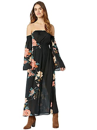 Billabong Crystal Flower Dress (Black) Womens Dress