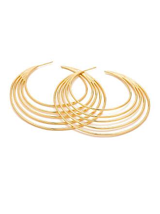 Gorjana Casey 18K Gold Plated Brass Profile 67mm Hoop Earrings