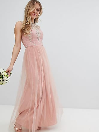 a8157fc2fb Chi Chi London Petite Sleeveless Maxi Dress with Premium Lace and Tulle  Skirt