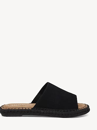 5c964e17d23 Toms Womens Clarita Espadrille Slides Black Size 10 Suede From Sole Society