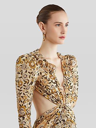Etro Floral Print Evening Dress, Woman, Beige, Size 38