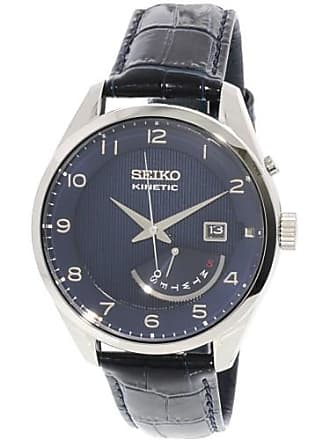 Seiko Mens Kinetic SRN061 Silver Stainless-Steel Fashion Watch