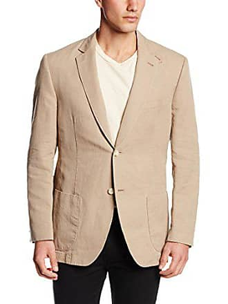 Kroon Mens Bono 2 Two Button Side Vent Blazer, Tan, 44 Long