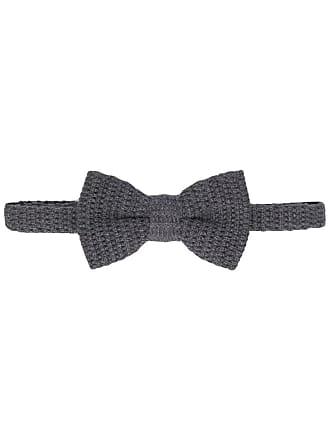 Eleventy Gravata borboleta de tricô - Cinza