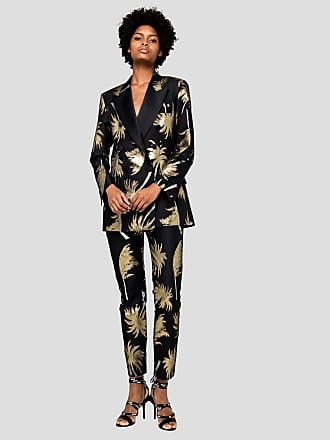 Msgm tropical print tuxedo trousers