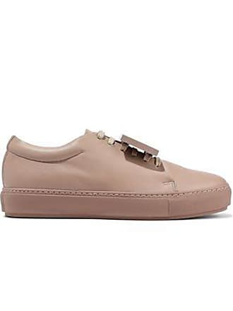 d60680b05 Acne Studios Acne Studios Woman Adriana Plaque-detailed Leather Sneakers  Blush Size 39