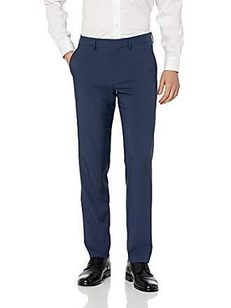 Haggar Mens Active Series Performance Straight Fit Flat Front Dress Pant, blue, 34Wx32L