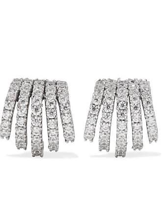 Kenneth Jay Lane Rhodium-plated Cubic Zirconia Earrings - Silver