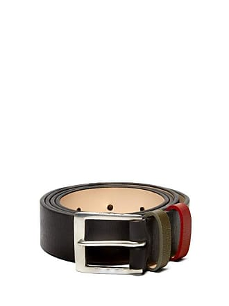 Paul Smith Contrast Loop Leather Belt - Mens - Black