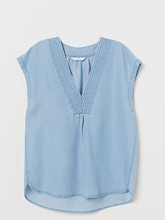 H&M Lyocell Denim Top - Blue