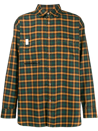 WWWM - What We Wear Matters Camisa xadrez mangas longas - Verde