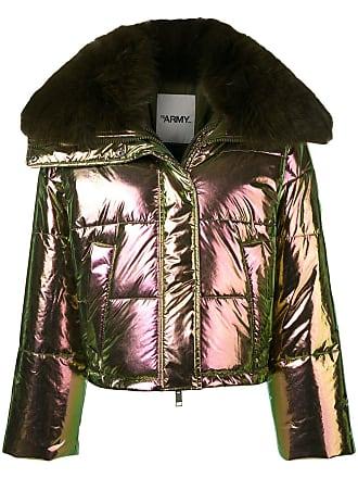 Yves Salomon - Army fox fur trim padded jacket - Green