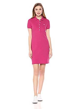 Lacoste Womens Stretch Cotton Short Sleeve Mini Piqué Polo Dress, Stacy Chine 2
