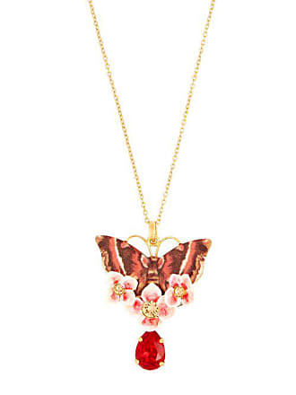 72c13c543dd Dolce   Gabbana Butterfly Crystal Embellished Necklace - Womens - Multi