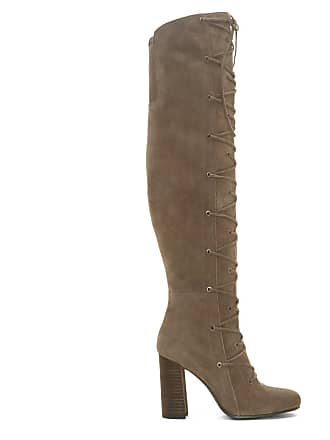 Vince Camuto Womens Thanta Lace Up Tall Boots Foxy Size 6.5 Suede From Sole Society