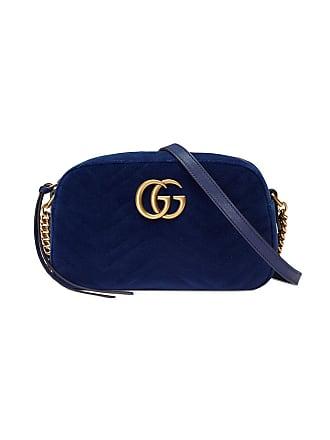 Gucci Bolsa tiracolo GG Marmont de veludo - Azul