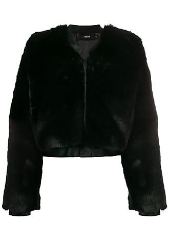 J Brand Faux Fur Jacket - Preto