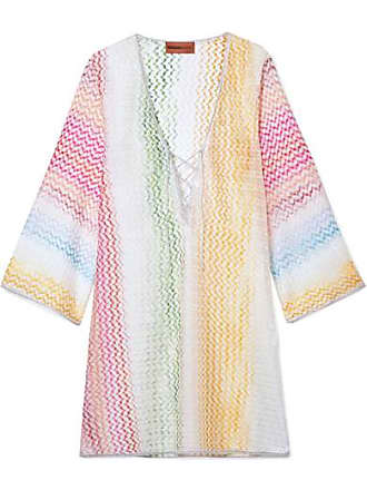a98362ad33e5f Missoni Mare Metallic Crochet-knit Kaftan - Pink