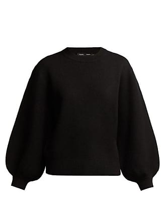 Proenza Schouler Balloon Sleeved Cashmere Blend Sweater - Womens - Black