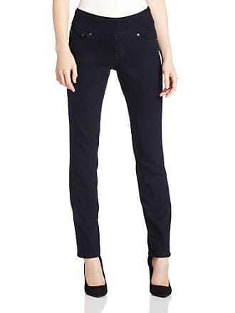 Jag Jeans Womens Petite Peri Straight Pull on Jean, After Midnight, 8P