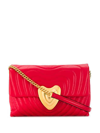 Escada quilted heart shoulder bag - Vermelho