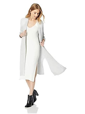 Jones New York Womens L/SLV Open Front Cardigan W/Slits, Silver/Grey Heather, XL