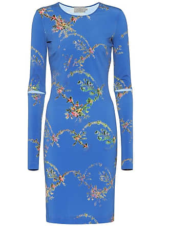 Preen Floral-printed stretch crêpe dress